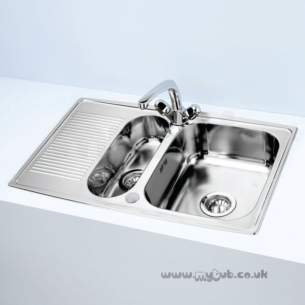 Armitage Shanks Commercial Sanitaryware -  Armitage Shanks Sandringham Inset 1.5b S/steel Sink S0128my Pack
