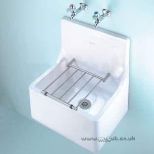 Armitage Shanks Commercial Sanitaryware -  Armitage Shanks Alder S590001 510mm Cleaners Sink Wh