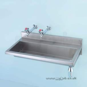 Armitage Shanks Commercial Sanitaryware -  Armitage Shanks Calder S2834 1800mm Left Hand 1-u Th Trough Ss