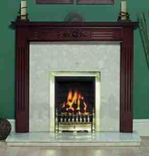 Be Modern Fire Surrounds -  48 Inch Oxford Mantel Medium Mahogany