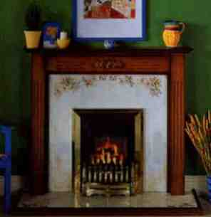 Be Modern Fire Surrounds -  48 Inch Oxford Mantel Vintage Honey Oak