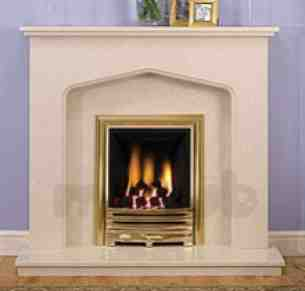 Be Modern Fire Surrounds -  46 Inch Shelby M/marble Surround Pearl Stone