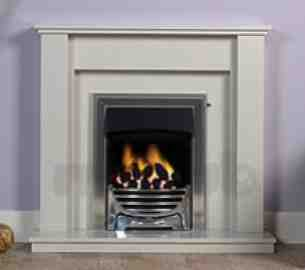 Be Modern Fire Surrounds -  42 Inch Tivona Micro Marble Surround White
