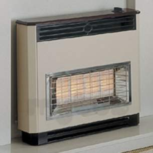 Baxi Gas Fires and Wall Heaters -  Baxi Charm 4 Oxysafe Fire Mahogany
