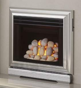 Valor Gas Fires and Wall Heaters -  Valor Icon 2 Pebble Gas Fire Ng Silver