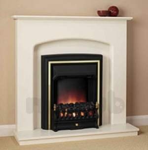 Be Modern Surrounds and Suites -  Lusso Suite C/w Black Elec Fire Ivory