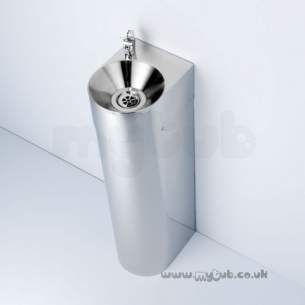 Armitage Shanks Commercial Sanitaryware -  Armitage Shanks Purita Fountain 23x30 Pol S/s And 700mm Ped