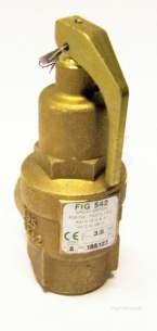 Nabic Safety Valves -  Nabic Safety Valve Fig 542 25mm 3.0 Bar