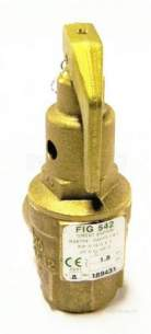 Nabic Safety Valves -  Nabic Safety Valve Fig 542 20mm 1.8 Bar