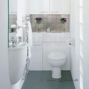 Ideal Standard Bathroom Furniture -  Ideal Standard Space E4641 450mm Wc Unit Inc Cist Walnt