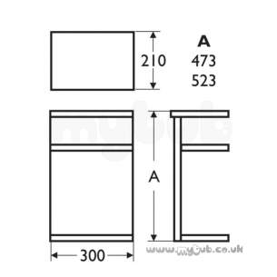 Ideal Standard Concept Furniture -  Ideal Standard Concept E6466wg 300 Sph/arc Link Gl Wh