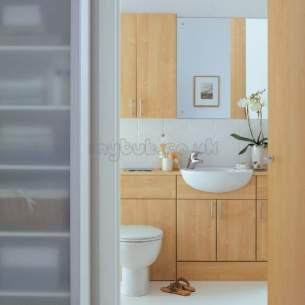 Ideal Standard Bathroom Furniture -  Ideal Standard Space E4642 600mm 2-dr Basin Unit Walnut