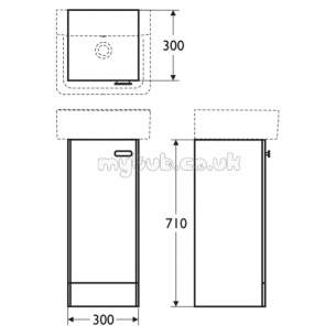 Ideal Standard Concept Furniture -  Ideal Standard Concept E6443wg Ped 300 Basin Unit Gl Wh