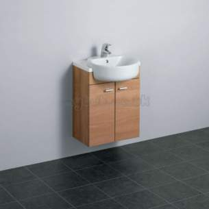 Ideal Standard Concept Furniture -  Ideal Standard Concept E6452uj W/h 500 Basin Unit Wnut/wh