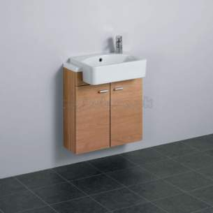 Ideal Standard Concept Furniture -  Ideal Standard Concept E6460uh W/h 600 Basin Oak/wh