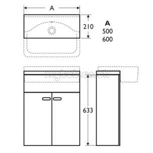 Ideal Standard Concept Furniture -  Ideal Standard Concept E6460wg W/h 600 Basin Gl Wh