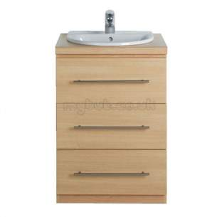 Ideal Standard Create Furniture -  Ideal Standard Create E3312 600mm Vanity Walnut