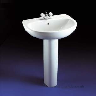 Ideal Standard Studio -  Ideal Standard Studio 450mm One Tap Hole Corner Ped Basin White