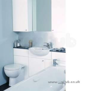 Ideal Standard Bathroom Furniture -  Ideal Standard Space E4642 600mm 2-dr Basin Unit Oak