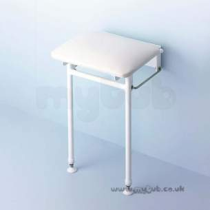 Armitage Grips Levers and Wastes -  Armitage Shanks S6850 Folding Shower Seat And Legs Wh