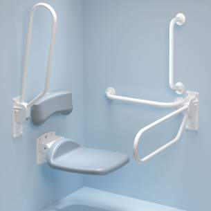 Armitage Shanks Commercial Sanitaryware -  Armitage Shanks Contour 21 Screw Wall 80cm Hinge Sup Arm S6467ac-white
