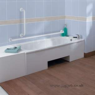 Armitage Shanks Steel Baths -  Armitage Shanks Nisa S1776 1700mm Lowline Bath 1th