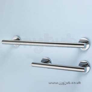 Armitage Shanks Commercial Sanitaryware -  Armitage Shanks Contemporary 21 Hinged Supp Rail 80cm Ch