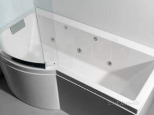 Eastbrook Baths -  Celcius Showerbath Lh And C-lenda Sys 1 Wh/ch