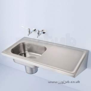 Armitage Shanks Commercial Sanitaryware -  Armitage Shanks Clyde S6531 Nth Lh Bowl Plaster Sink Ss