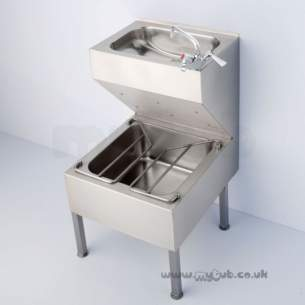 Armitage Shanks Commercial Sanitaryware -  Armitage Shanks S6509 500 X 600mm Janitorial Unit Ss
