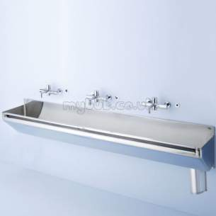 Armitage Shanks Commercial Sanitaryware -  Armitage Shanks Firth S2854my 1600mm Left Hand Waste Cover And Hangers Ss