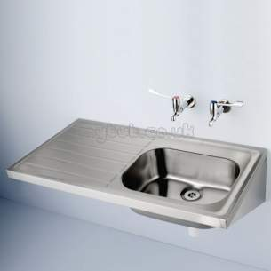 Armitage Shanks Commercial Sanitaryware -  Armitage Shanks Doon S5844 1200 X 650mm 2th Rhd Sink Ss