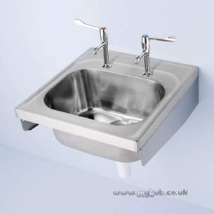 Armitage Shanks Commercial Sanitaryware -  Armitage Shanks Doon S5863 600x650mm No Tap Holes 1.0b Sink Ss