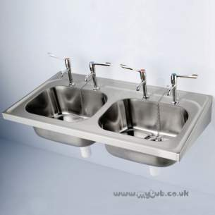 Armitage Shanks Commercial Sanitaryware -  Armitage Shanks Doon S5867 1200 X 650mm Nth 2 0b Sink Ss