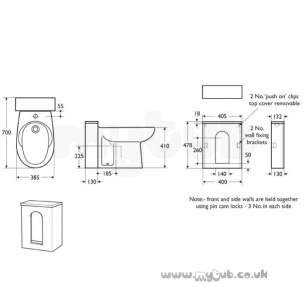 Armitage Shanks Commercial Sanitaryware -  Armitage Shanks Profile S4922 1cth Bidet Ex O/flow Wh