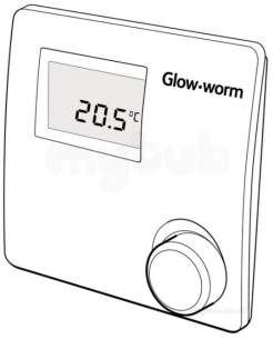Glow Worm Domestic Gas Boilers -  Glow-worm 20035402 White Climastat Room Thermostat