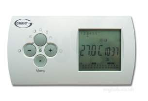 Grant Uk Oil Boilers -  Green Vortex Wireless 7-day Two Channel Programmable Room Thermostat Kit Option