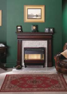 Robinson Willey Gas Fires and Wall Heaters -  R W Firegem Visa Dl Highline Rosewd Ng