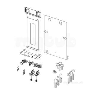 Ideal Logic Logic Plus Flues and Accessories -  Ideal Logic Pre Piping Frame Kit