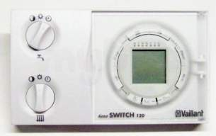 Vaillant Domestic Gas Boilers -  Vaillant 306742 White Timeswitch 120 7 Day Programmer