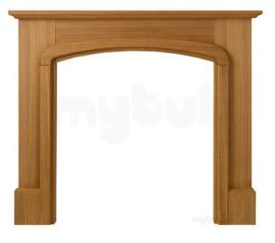 Valor Electric Fires -  Valor Calista Mantel Oak Finish 05070b1