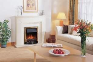 Dimplex Electric Fires -  Charlbury Brass Inset Electric Fire