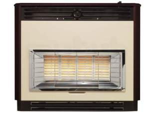 Baxi Gas Fires and Wall Heaters -  Baxi Brava 4 Oxysafe Fire Mahogany