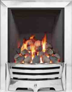 Be Modern Gas Fires -  Be Modern Mayfair Gas Fire 120mm Pebble Chr