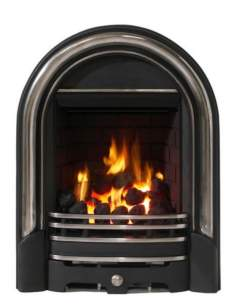 Be Modern Fires Gas and Electric -  Bm Abbey Gas Fire 180mm-pt. Polished