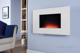 Be Modern Fires Gas and Electric -  Bm Dante Wall Mount Fire-limestone
