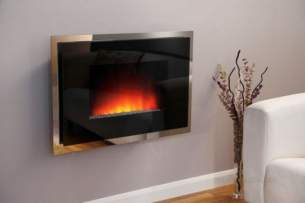 Be Modern Fires Gas and Electric -  Bm Dante Wall Mount Fire-double Glass