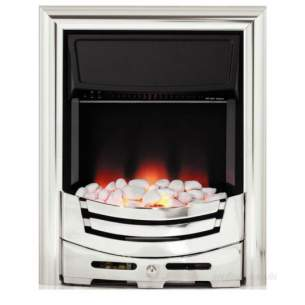 Be Modern Fires Gas and Electric -  Bm Signum Electric Fire-chrome/pebble