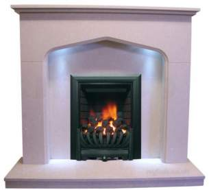 Be Modern Marble Stone Surrounds -  Bm 46 Inch Shelby C/w Lights -p/stone 45mm