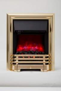 Be Modern Fires Gas and Electric -  Bm Savannah Led Electric Fire Brass